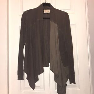 Anthropologie olive green sweater size xs